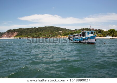 pleasure boats moored off a tropical beach stock photo © jrstock