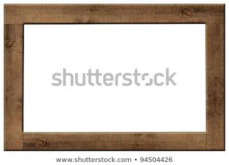 ősi fa keret izolált fehér otthon Stock fotó © taviphoto