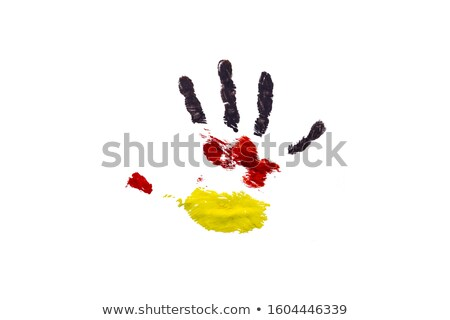 Handprint of a German flag on a white Stock photo © vlad_star