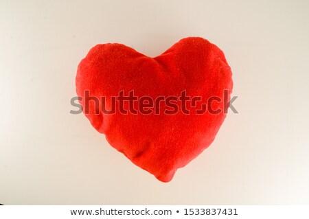 Coração travesseiro vermelho doce romance amor Foto stock © sweetcrisis