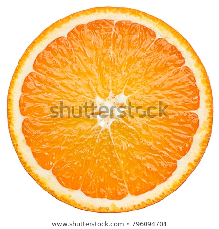dois · seção · transversal · laranja · isolado · branco - foto stock © zhekos