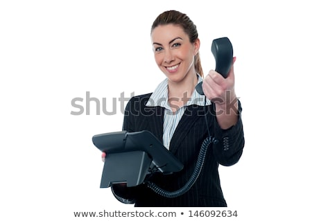 telefono · Smart · segretario · mano · sorridere - foto d'archivio © stockyimages