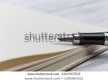 macro closeup sign document contract pen filler  Stock photo © juniart