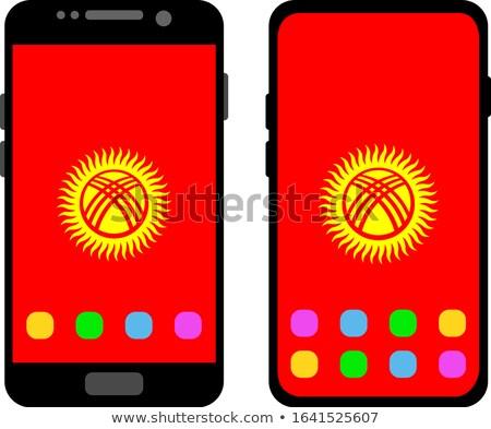 Smartphone banderą telefonu telefon komórkowych ekranu Zdjęcia stock © vepar5