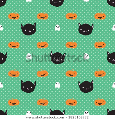halloween symbols seamless pattern light stock photo © voysla