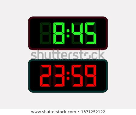 digital · eletrônico · relógio · isolado · branco · calendário - foto stock © AEyZRiO
