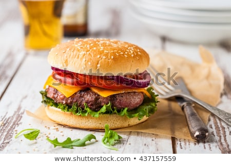 homemade burger stock photo © creisinger