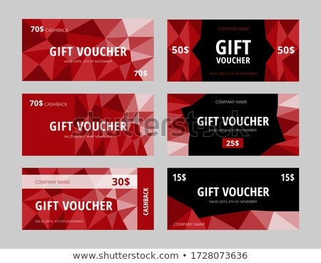 gift card template eps 8 stock photo © beholdereye