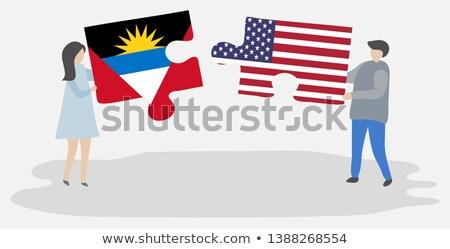 США флагами головоломки вектора изображение изолированный Сток-фото © Istanbul2009