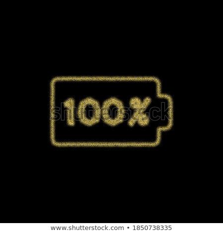 батареи вектор икона дизайна черный цифровой Сток-фото © rizwanali3d