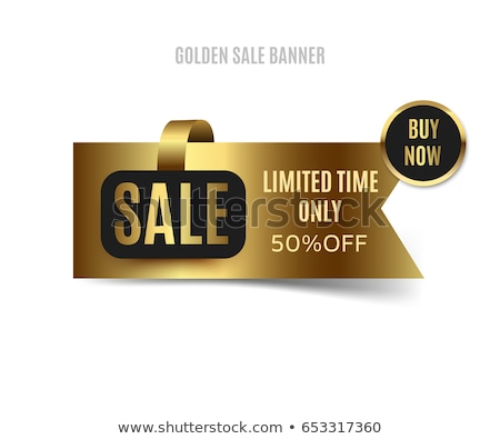 Big Offer Golden Sticky Notes Vector Icon Design Stock photo © rizwanali3d