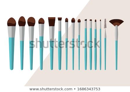 black cosmetic brush Stock photo © ozaiachin