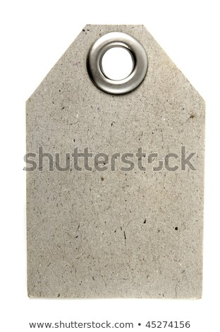 paper tag with metal grommet isolated on white background Stock photo © tetkoren