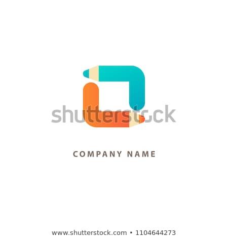 Equipamentos de escritório logotipo negócio trabalhando elementos secretária Foto stock © netkov1