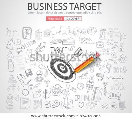 business targe concept with doodle design style stock photo © davidarts