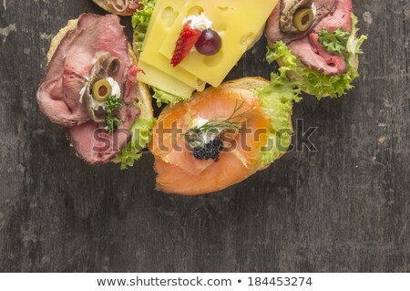 anchovies hamsi on old table stock photo © mady70