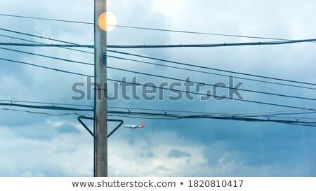 electric pylon in the ocean Stock photo © meinzahn