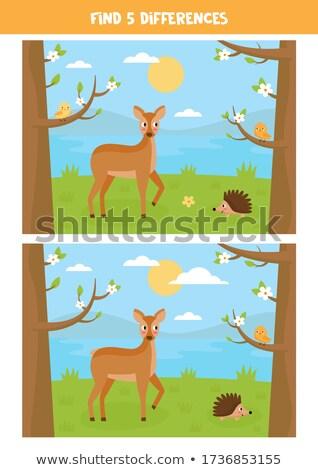 Kid on tree beside the river Stock photo © zurijeta