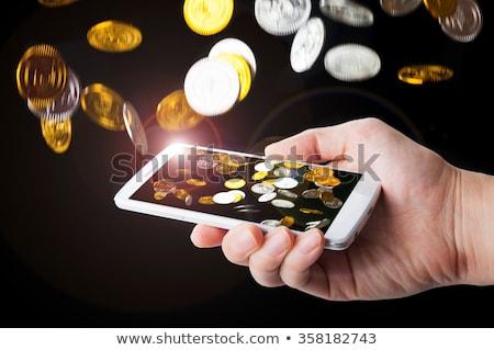 Mobiele telefoon voorraad investering inkomen tonen Stockfoto © kenishirotie