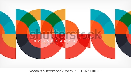 colored geometric circle Stock photo © cienpies