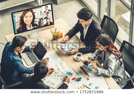 会議室 ビッグ 垂直 ウィンドウ 3dのレンダリング 水平な ストックフォト © Koufax73