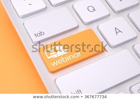 Orange webinar icon Stock photo © Oakozhan
