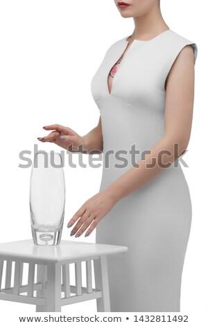 Transparent elliptic glass stand Stock photo © SwillSkill