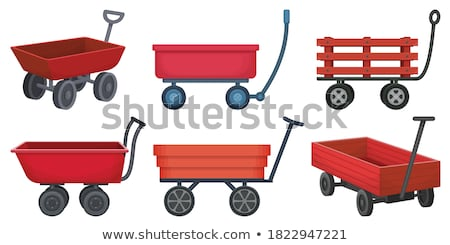 Húz fa vagon férfi nő profi Stock fotó © dash