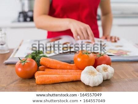 Close-up of vegetables on kitchen worktop Stock photo © wavebreak_media