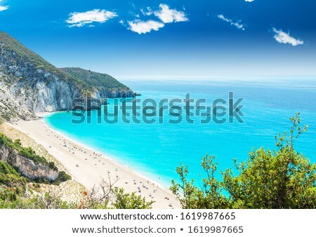Mylos beach in lefkada, Greece stock photo © ankarb