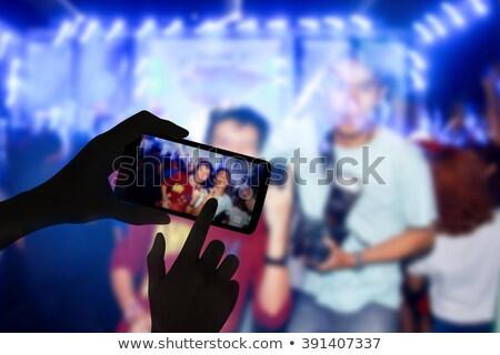 Cep telefonu resim konser gece eğlence Stok fotoğraf © IS2