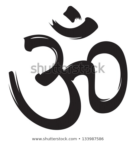 símbolo · hojas · flor · sagrado · hinduismo · budismo - foto stock © blackmoon979