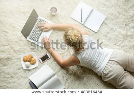 Type schoolmeisje ingesteld vakantie stress vector Stockfoto © toyotoyo
