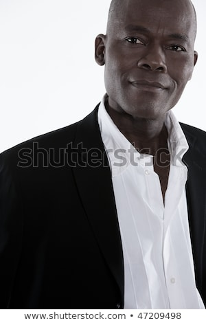 Portret verleidelijk man zwarte smoking denken Stockfoto © feedough