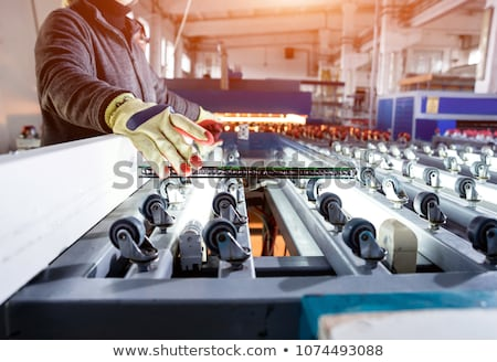 Glass production equipment at manufacture background Stock photo © Traimak