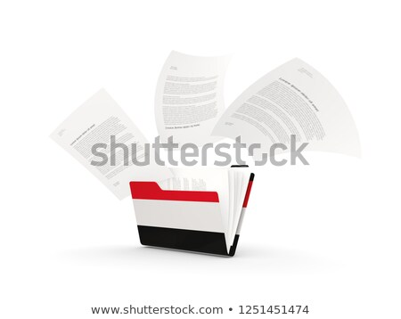 Dobrador bandeira Iémen arquivos isolado branco Foto stock © MikhailMishchenko