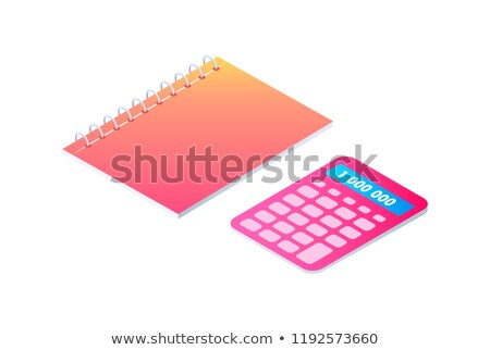 Neon Notebook on Spring Isolated Vector Badge Stock photo © robuart