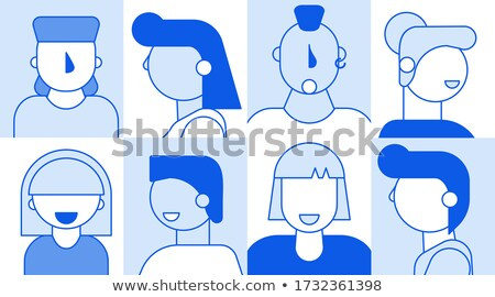 Сток-фото: Woman And Businessman Set Vector Illustration