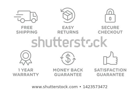 ücretsiz gönderim etiket örnek beyaz iş arka plan Stok fotoğraf © get4net