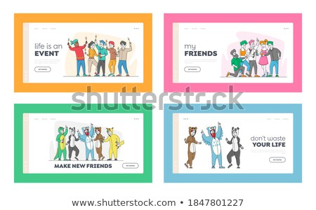 pajama party concept landing page stock photo © rastudio