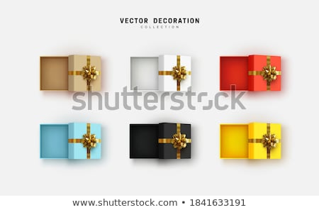 Set of blue boxes Stock photo © colematt