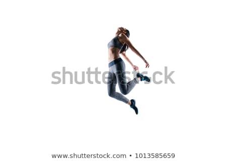 Stock fotó: Képzés · fáradt · fiatal · sportoló · tart · törölköző