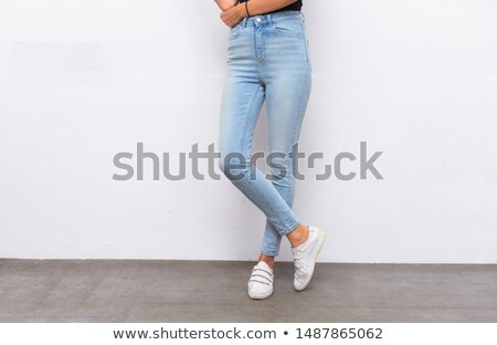Healthy woman's legs. Legs isolated on white. Beautiful woman le Stock photo © serdechny