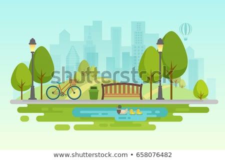 szabadidő · város · park · vektor · férfi · karakter - stock fotó © robuart