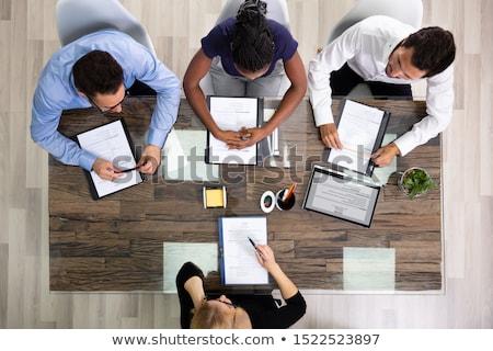vrouwelijke · manager · aanvrager · jonge · kantoor · business - stockfoto © andreypopov