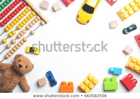 démence · texte · cubes · table · en · bois · affaires - photo stock © galitskaya