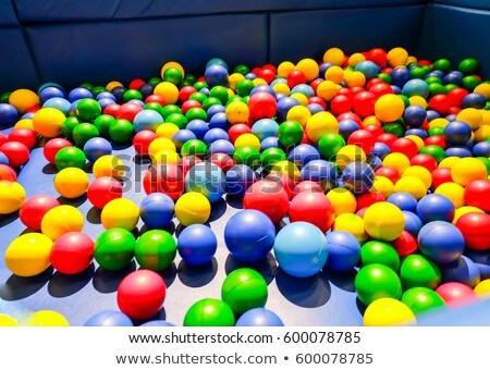 Multi-colored plastic balls. A children's playroom Stock photo © galitskaya