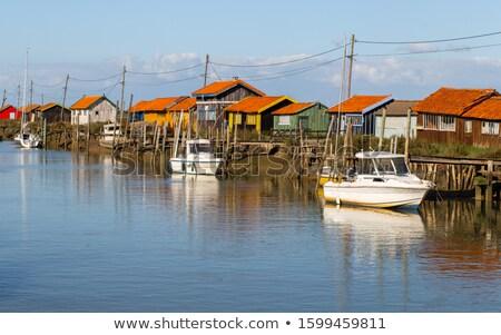 La Tremblade village, Oyster farming harbour in France Stock photo © tilo