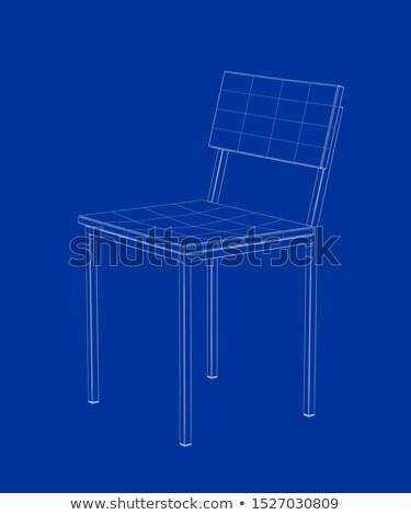3D モデル ダイニング 椅子 デザイン ストックフォト © magraphics