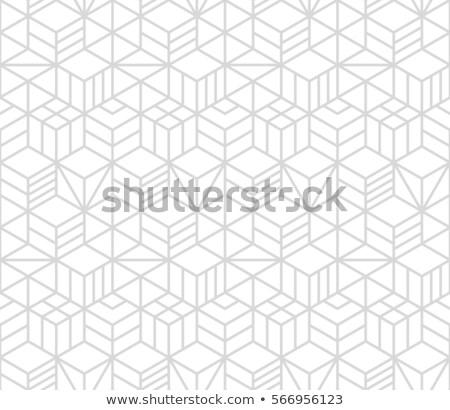küp · vektör · 3D · etki · toplantı · inşaat - stok fotoğraf © beholdereye